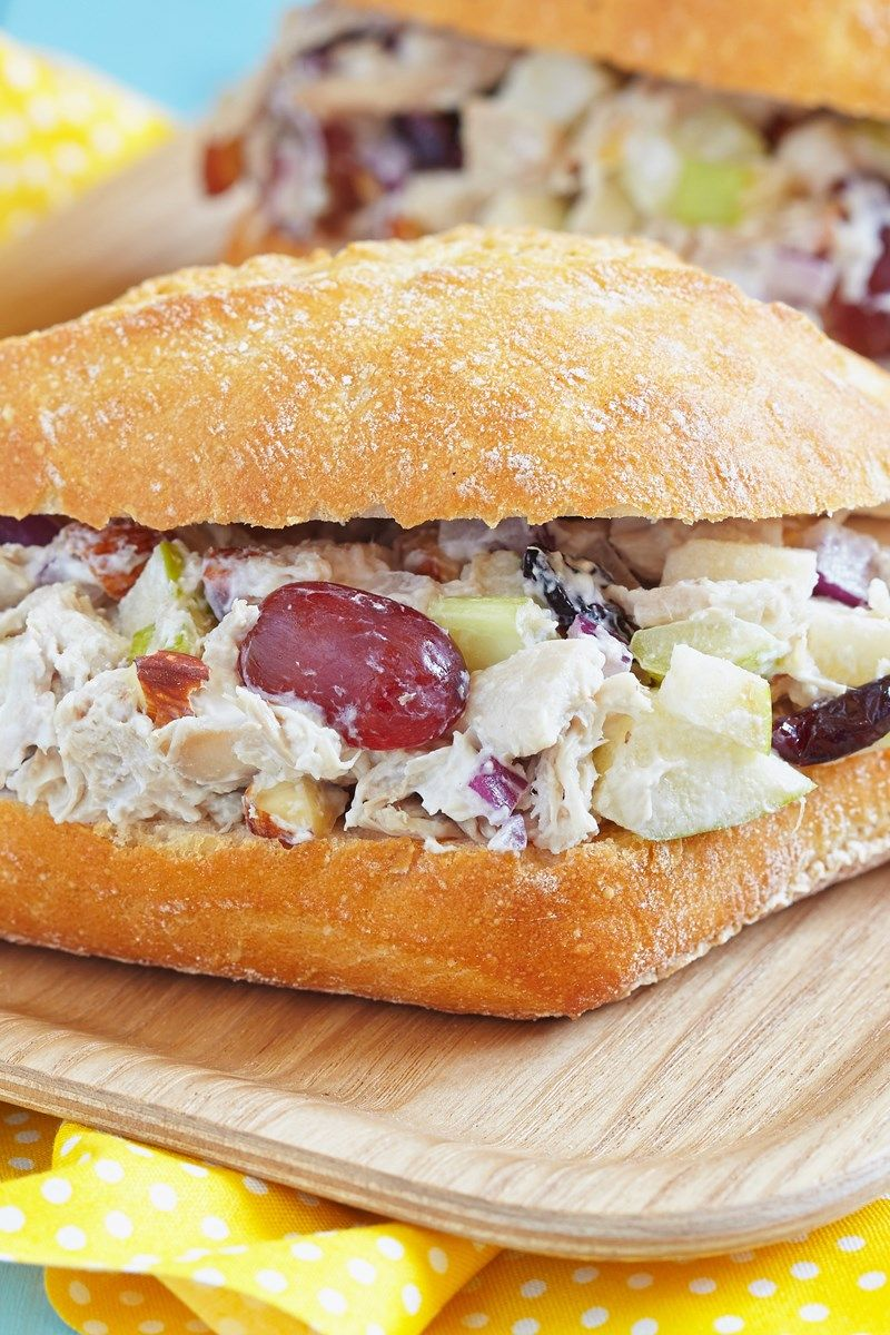 Chicken salad with apples and grapes recipe grape