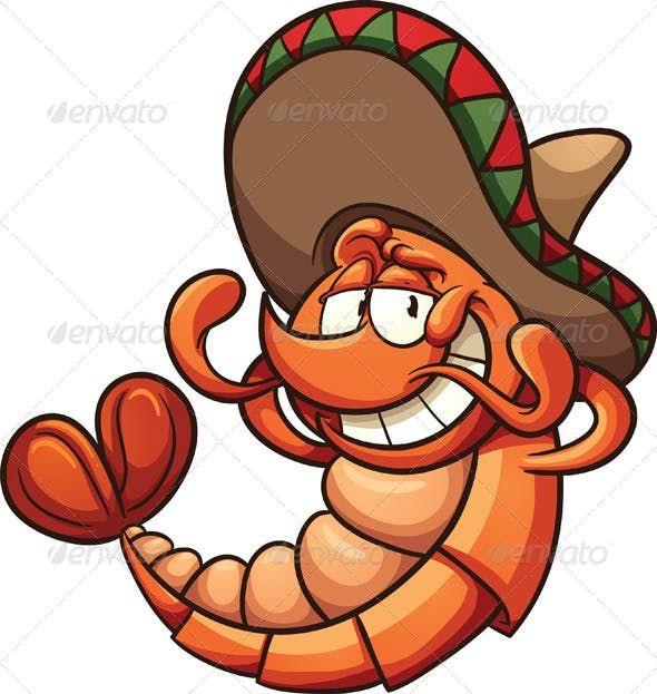 Mexican Shrimp By Memoangeles Graphicriver Dibujos De Camarones Dibujos Dibujos Terrorificos