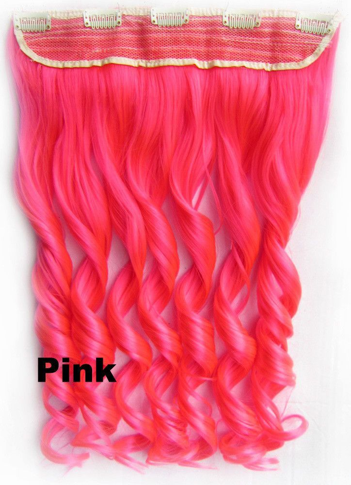 Colorful Candy 12colors Clip In Hair Extensions 1weft5pcs Body Wave