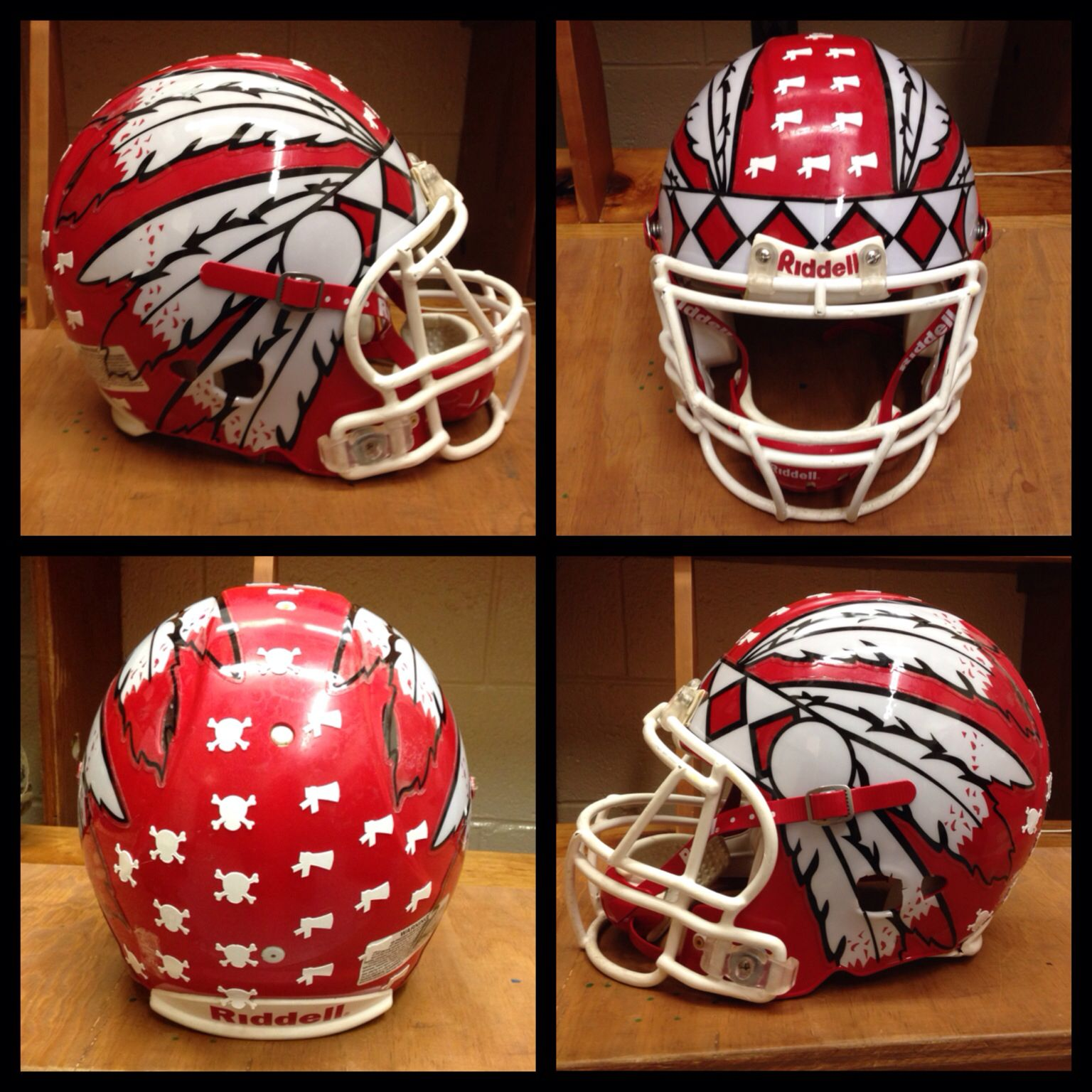Possible Half Helmet Headdress Football Decal Coming To A High - Motorcycle half helmet decals