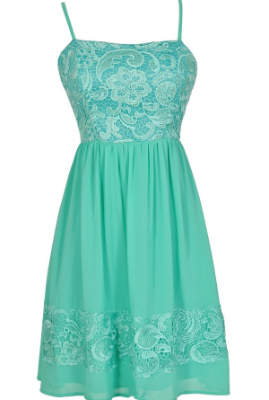 Best Days Ahead Lace and Chiffon Dress in Jade GREAT WEBSITE FOR ...