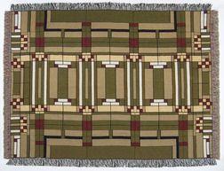 Frank Lloyd Wright Oak Park Throw Blanket Kathleen S