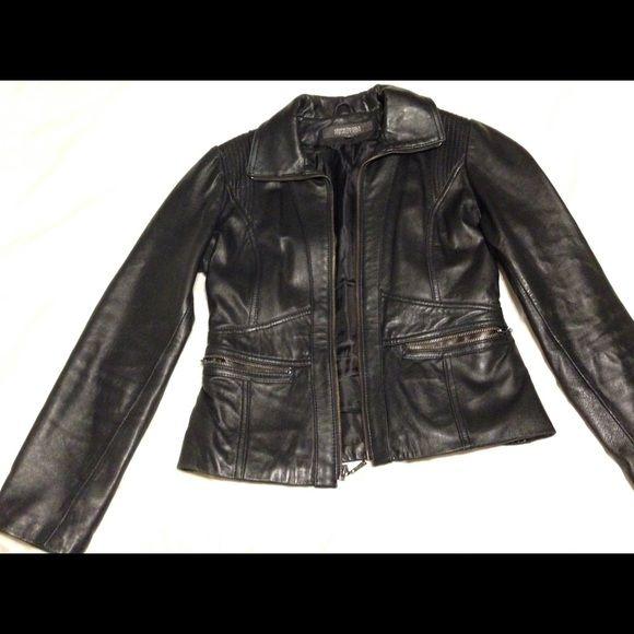 Black Leather Jacket - Kenneth Cole Reaction Soft leather, excellent condition Kenneth Cole Reaction Jackets & Coats