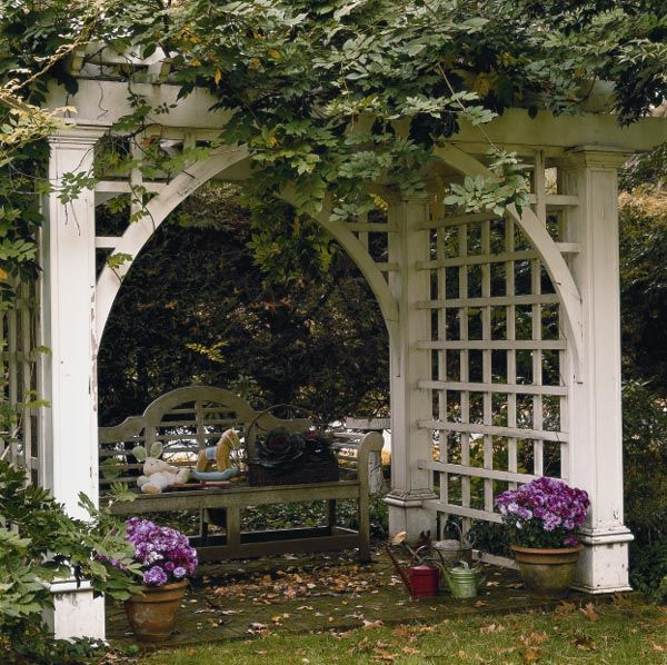 Exceptional Arbor Trellis Ideas Part - 4: As Well As Other Related Woodworking Arbor Plans: Woodworking Plans For  Building Yard And Garden