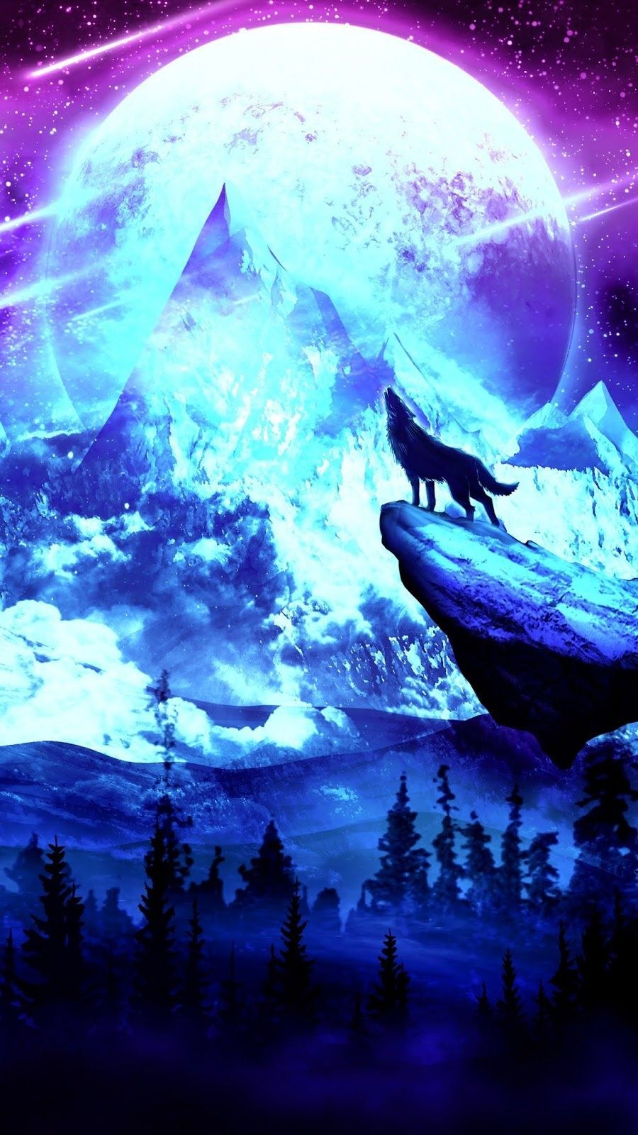 13 Anime Wolf Wallpaper Iphone Wallpapers Wolf Wallpaper Cute Galaxy Wallpaper Wolf Painting