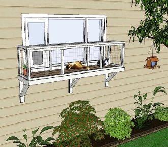 Window Box Large Diy Catio Plan 78 98 Diy Cat Enclosure Cat Window Perch Cat Patio