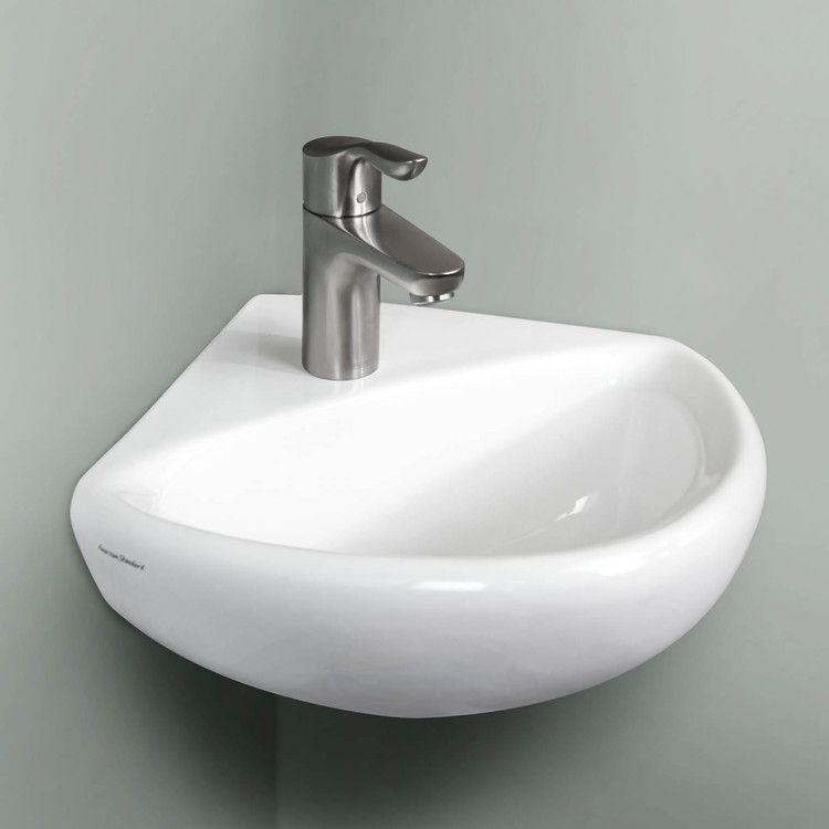 Buy American Standard 0451 001 020 Corner Minette 11 Quot Wall Mount Bathroom Sink Riverbend Home Small Bathroom Sinks Powder Room Small Bathroom Sink