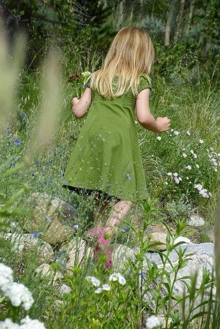 little girl in a green dress breana and grandpa. Black Bedroom Furniture Sets. Home Design Ideas