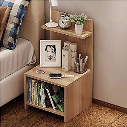 Cr Wood Nightstand Bed End Side Table Bathroom Cabinet Apartment Furniture Simple Bedside Tables Diy Furniture