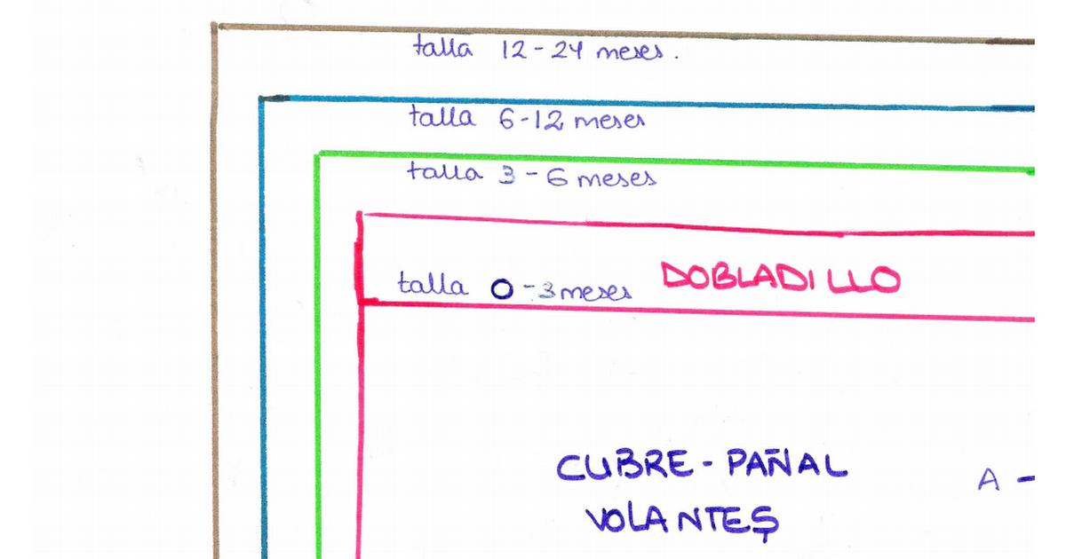 Patron cubre pañal braguita volantes.pdf | MARA | Pinterest | Cubre ...