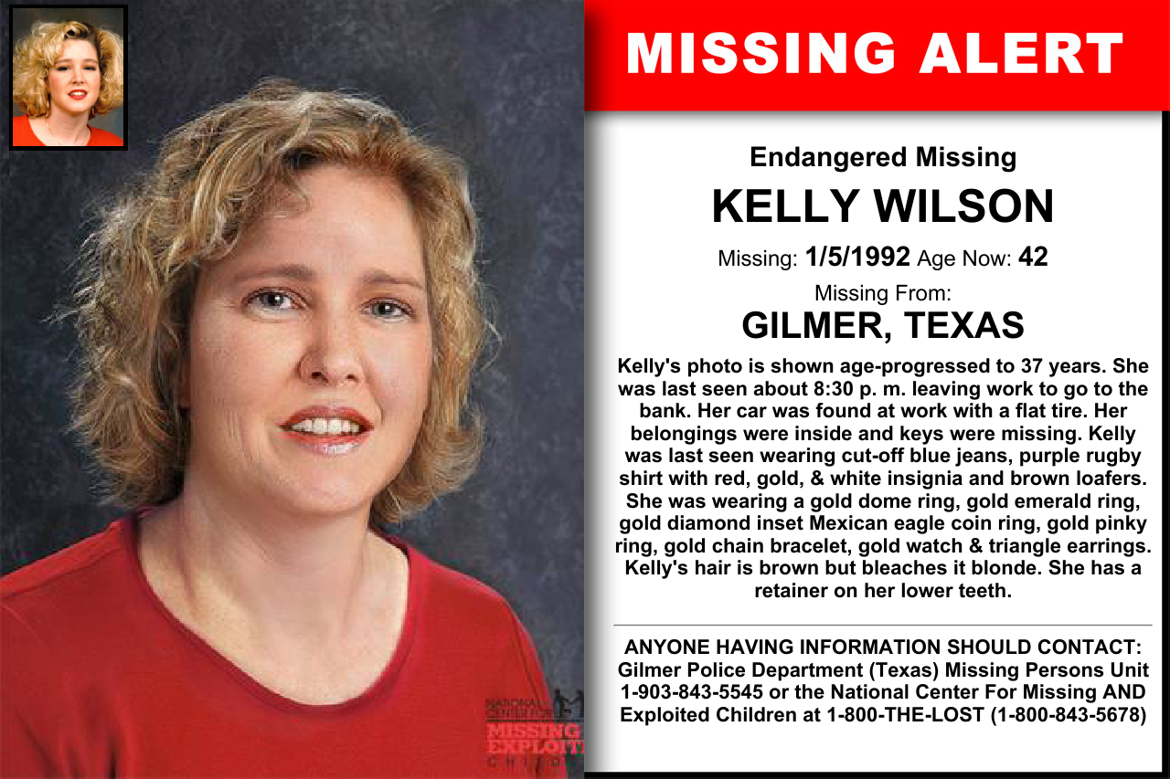 KELLY WILSON, Age Now: 42, Missing: 01/05/1992  Missing From
