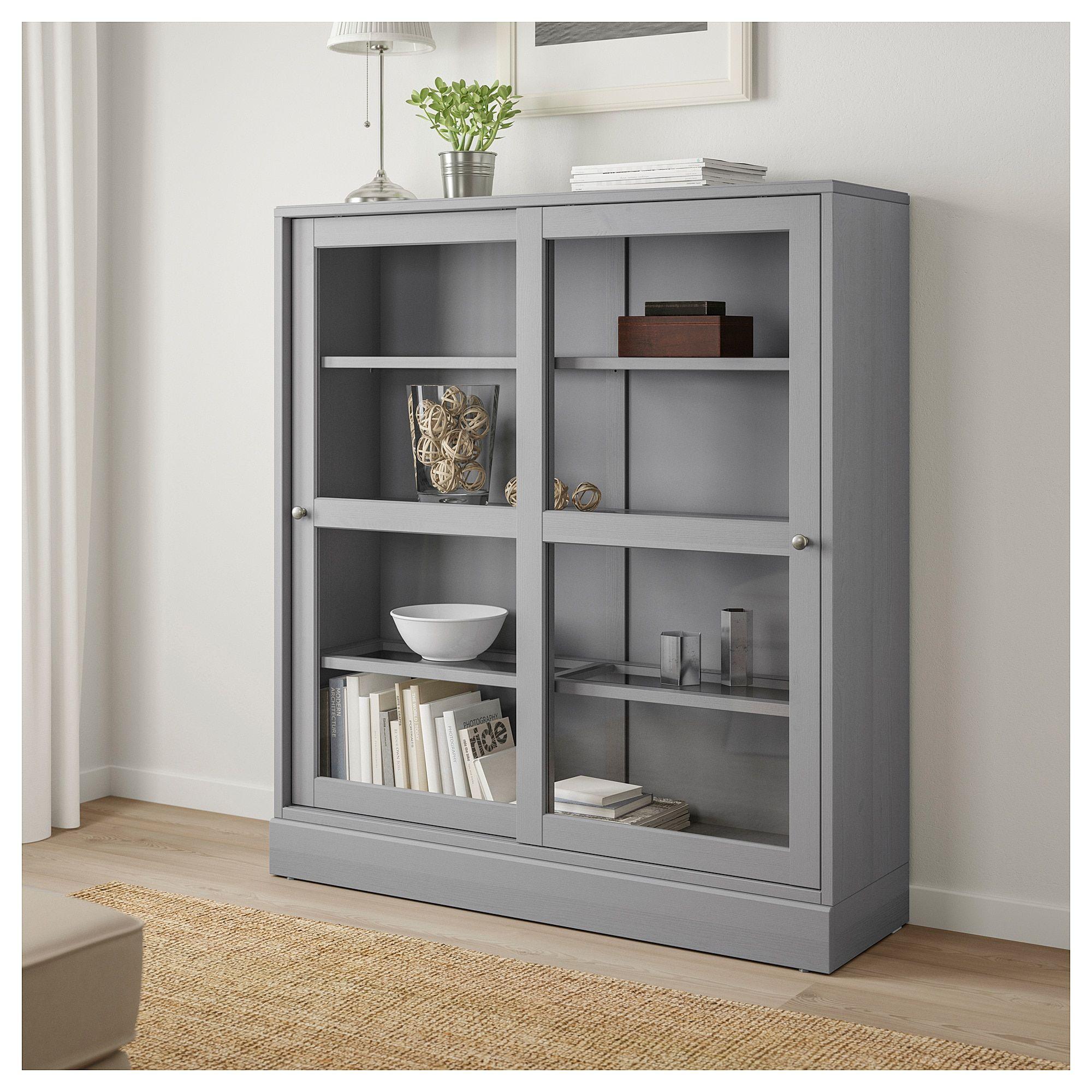 IKEA HAVSTA Glassdoor with base gray, clear