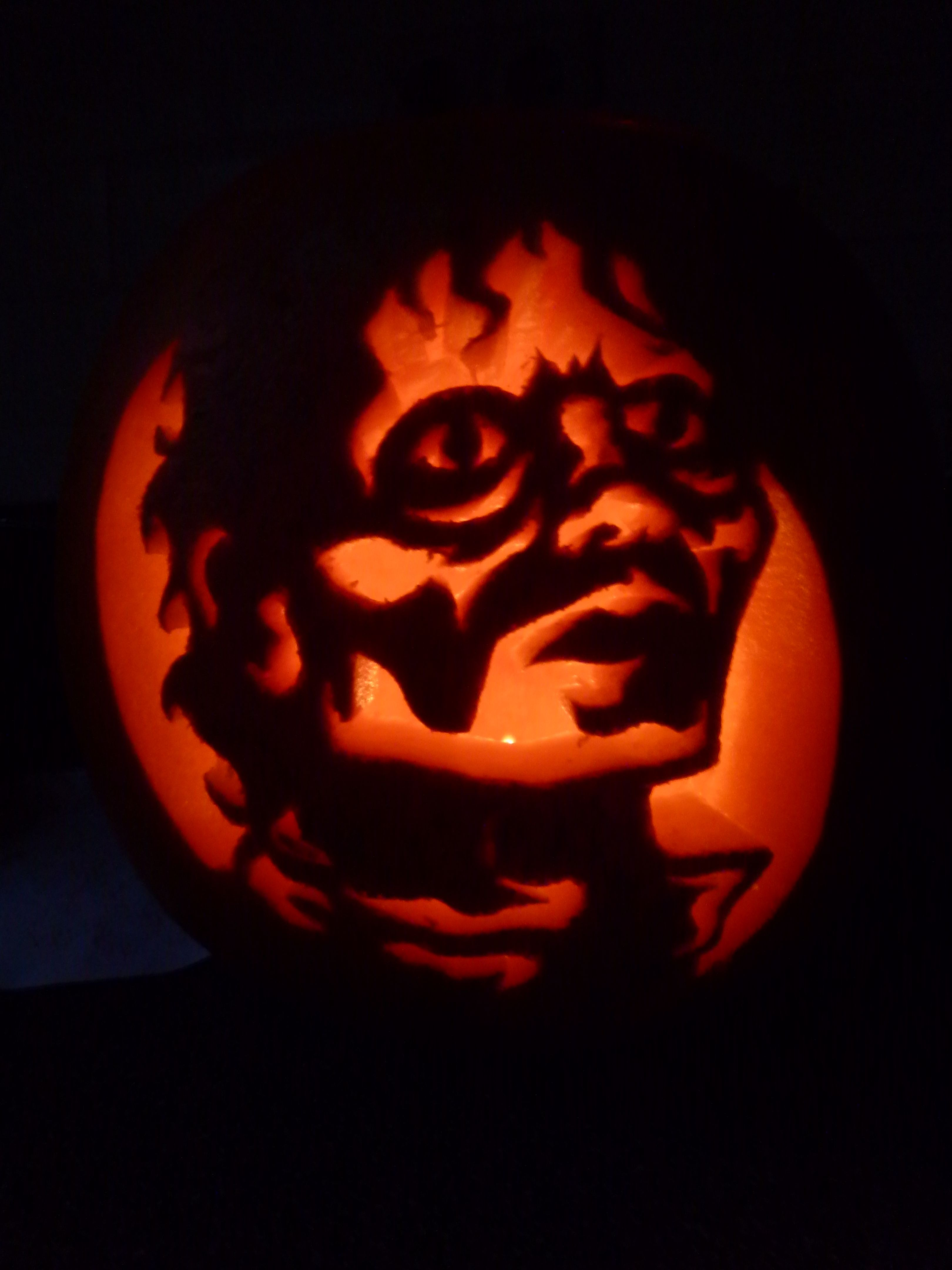 Halloween pumpkins michael jackson thriller pattern
