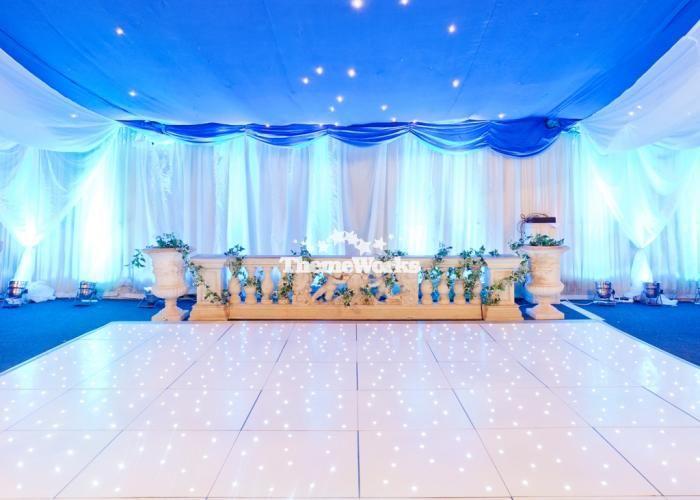 Dance Floor Wedding Winter Wonderland