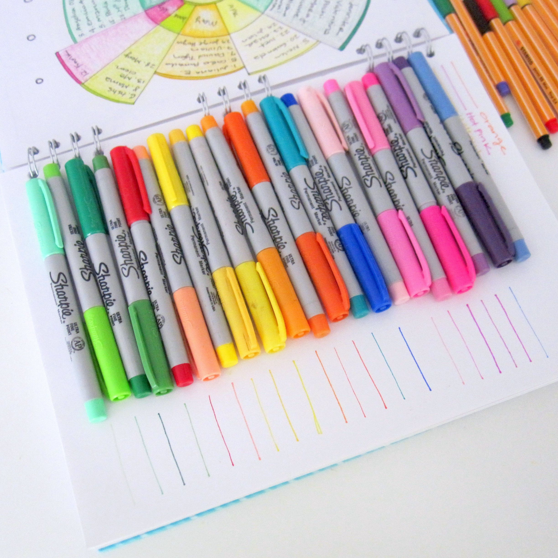 Bullet Journal Supplies Bullet Journal Sharpie Markers Diy