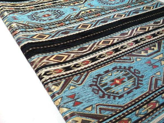 Ethnic Tribal Style Chenille Upholstery Fabric Kilim by Mahzen, $10.50