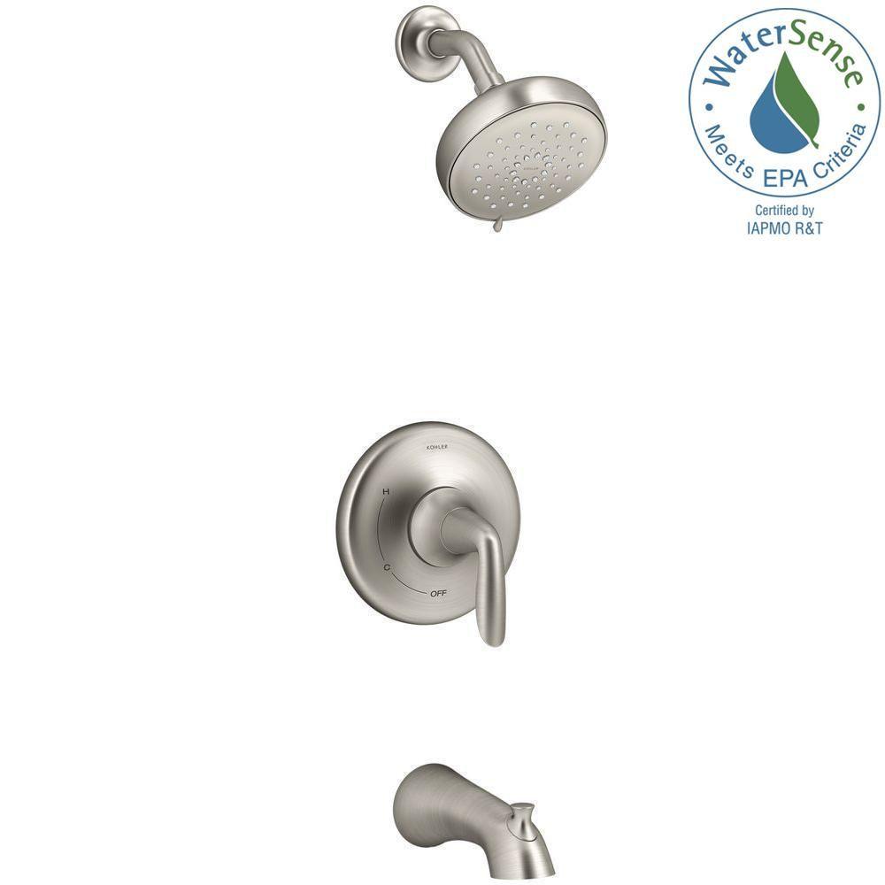 Brushed Nickel Kohler Shower Faucets.Kohler Willamette Single Handle 3 Spray Tub And Shower
