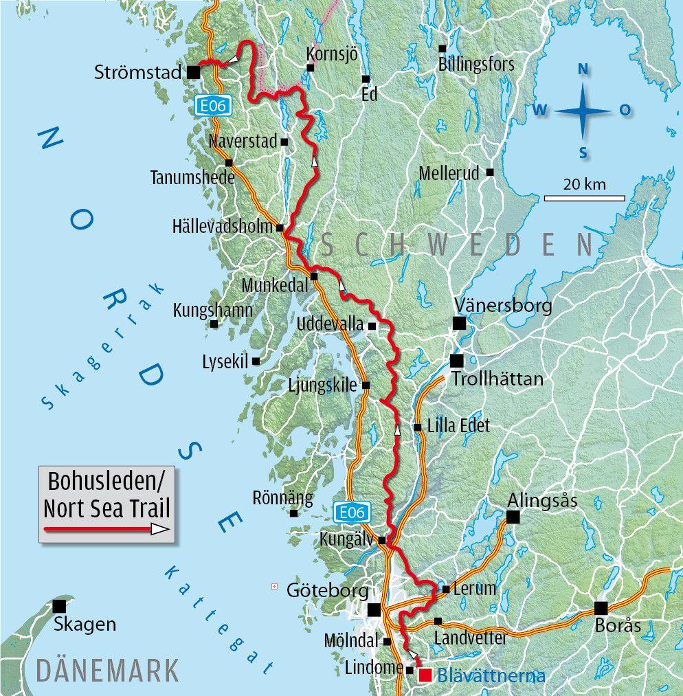 Schweden Mountainbike Trail Bohusleden Schweden Mountainbike Touren