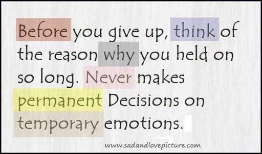 Decisions..