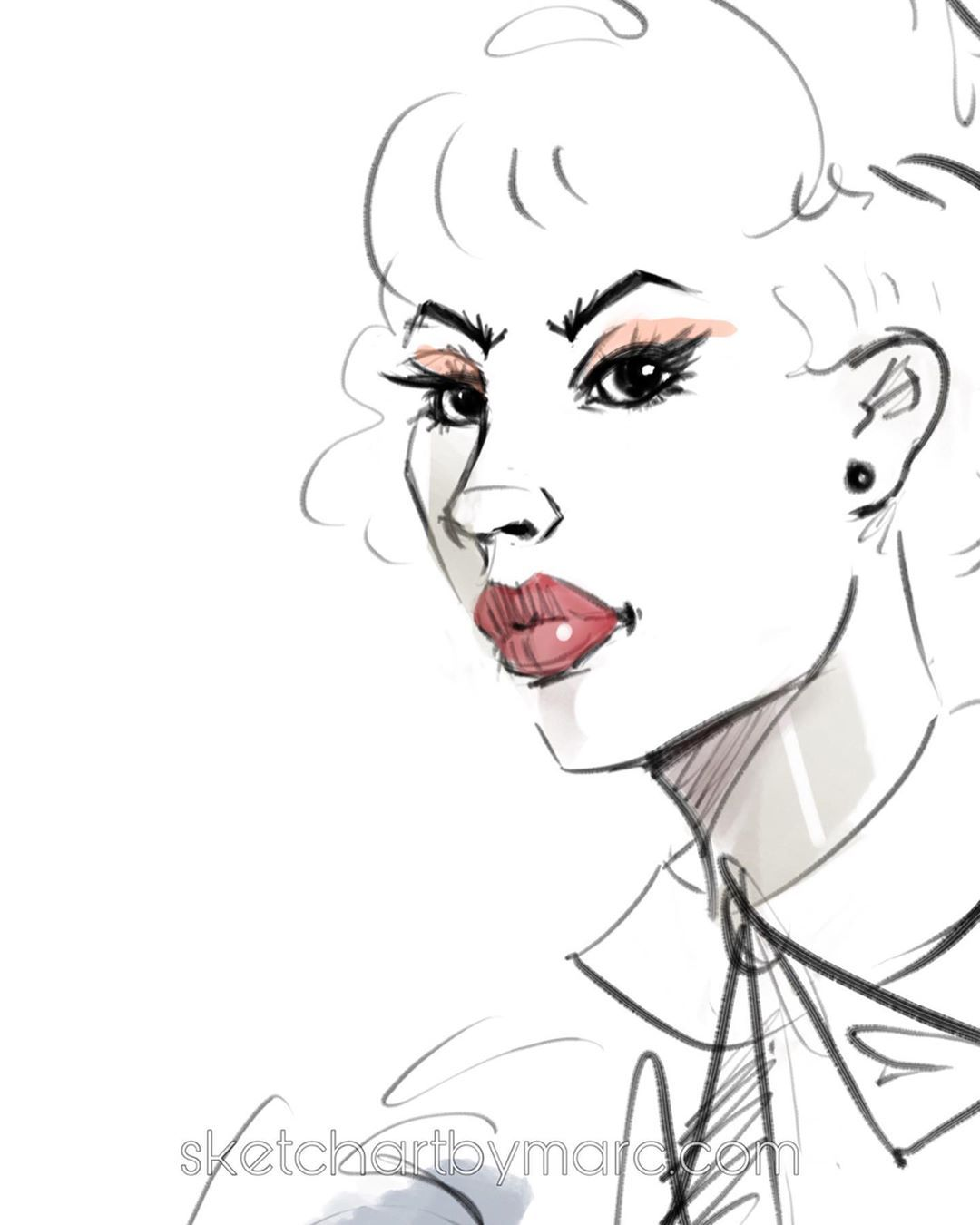 Subtle beauty is always there......Subtle beauty is always there...  -  -  #autodesksketchbook #quicksketch #artlife #imagination #illustration #fashion #procreateartist #procreate #procreateart #fashionsketch #gesture #design #dailydrawing #character #beauty #fashionart #style #dailydrawing #fashionillustration #redlips #blue #sketching #ipadpro #roughsketch