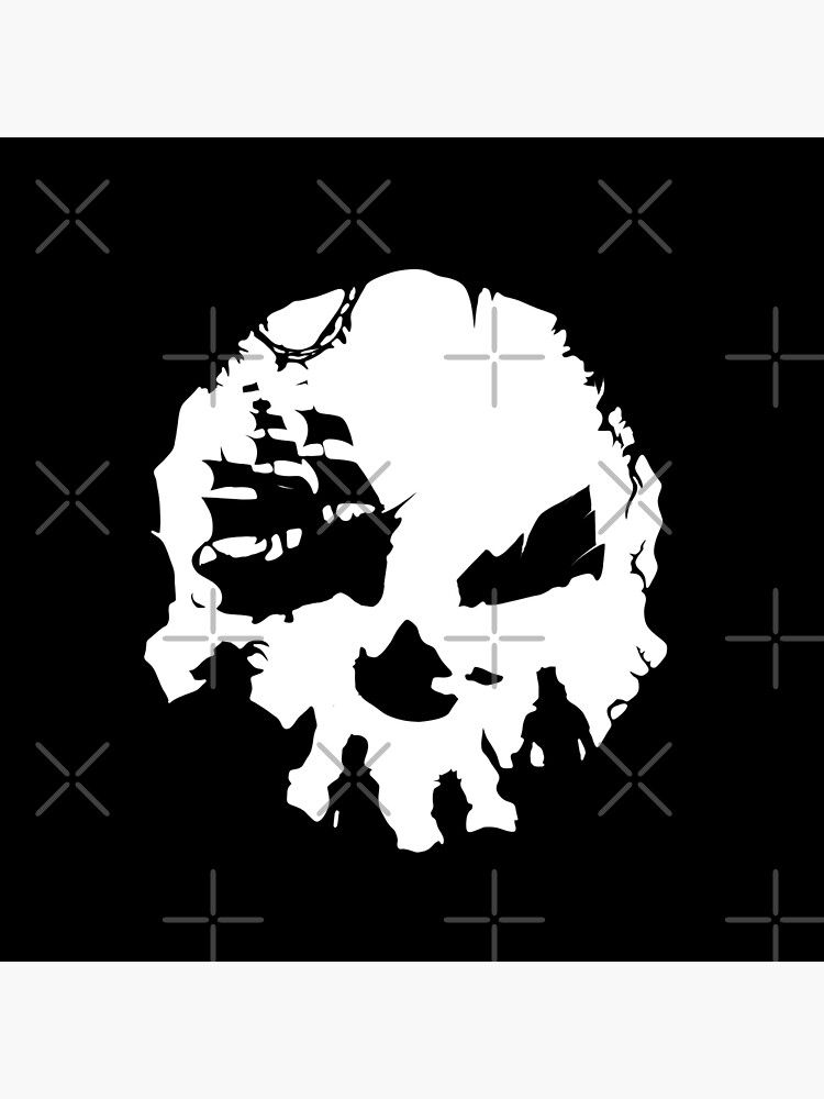 Pirate Skull Sea Of Thieves Poster By Acatalepsys Redbubble Sea Of Thieves Pirate Skull Skull Silhouette