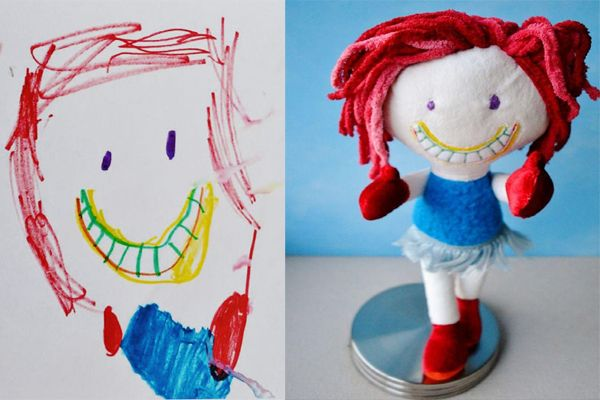Turns Kids' Drawings into Real-Life Soft Toys