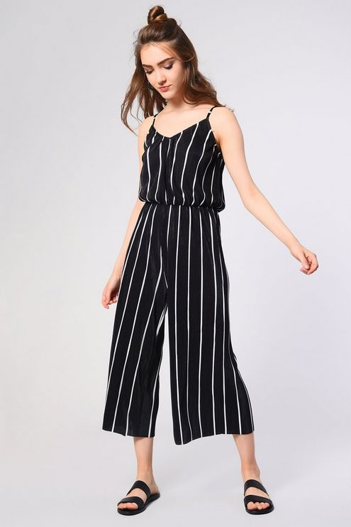95877362eb21 Womens   Striped Cami Jumpsuit by Glamorous Tall - Black