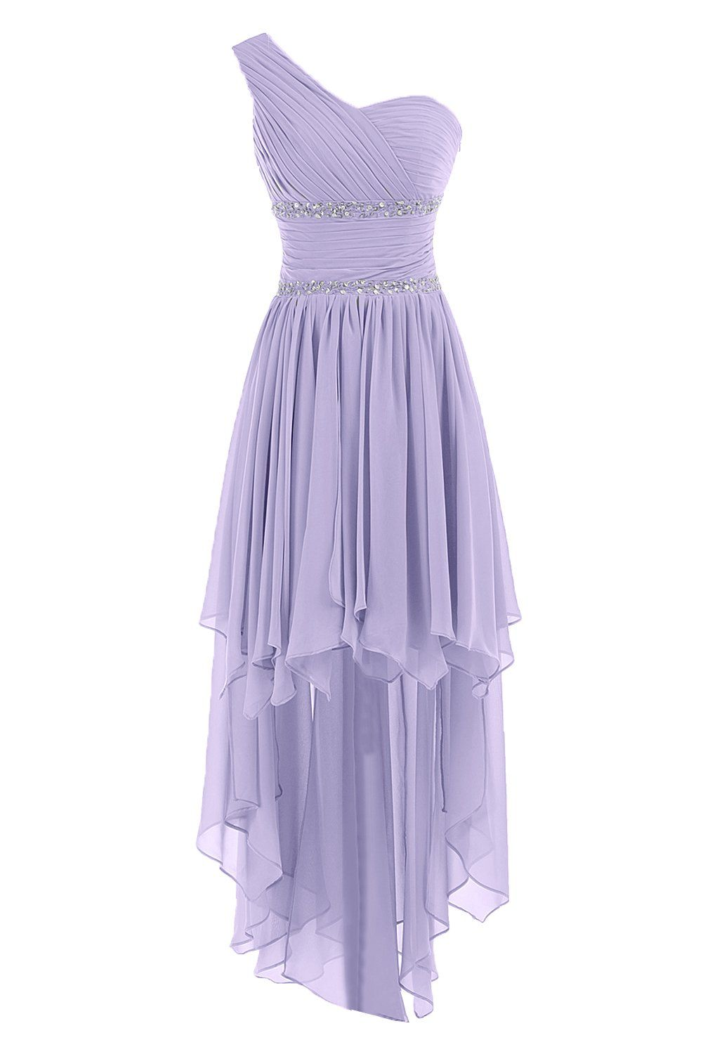 Sunvary one shoulder high low chiffon bridesmaid dresses homecoming