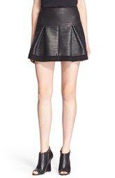 BurberryBrit Pleat Leather Skirt