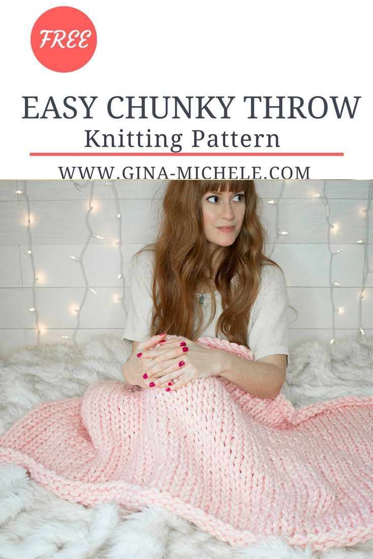 FREE knitting pattern for this Easy Chunky Throw. Beginner-friendly ...