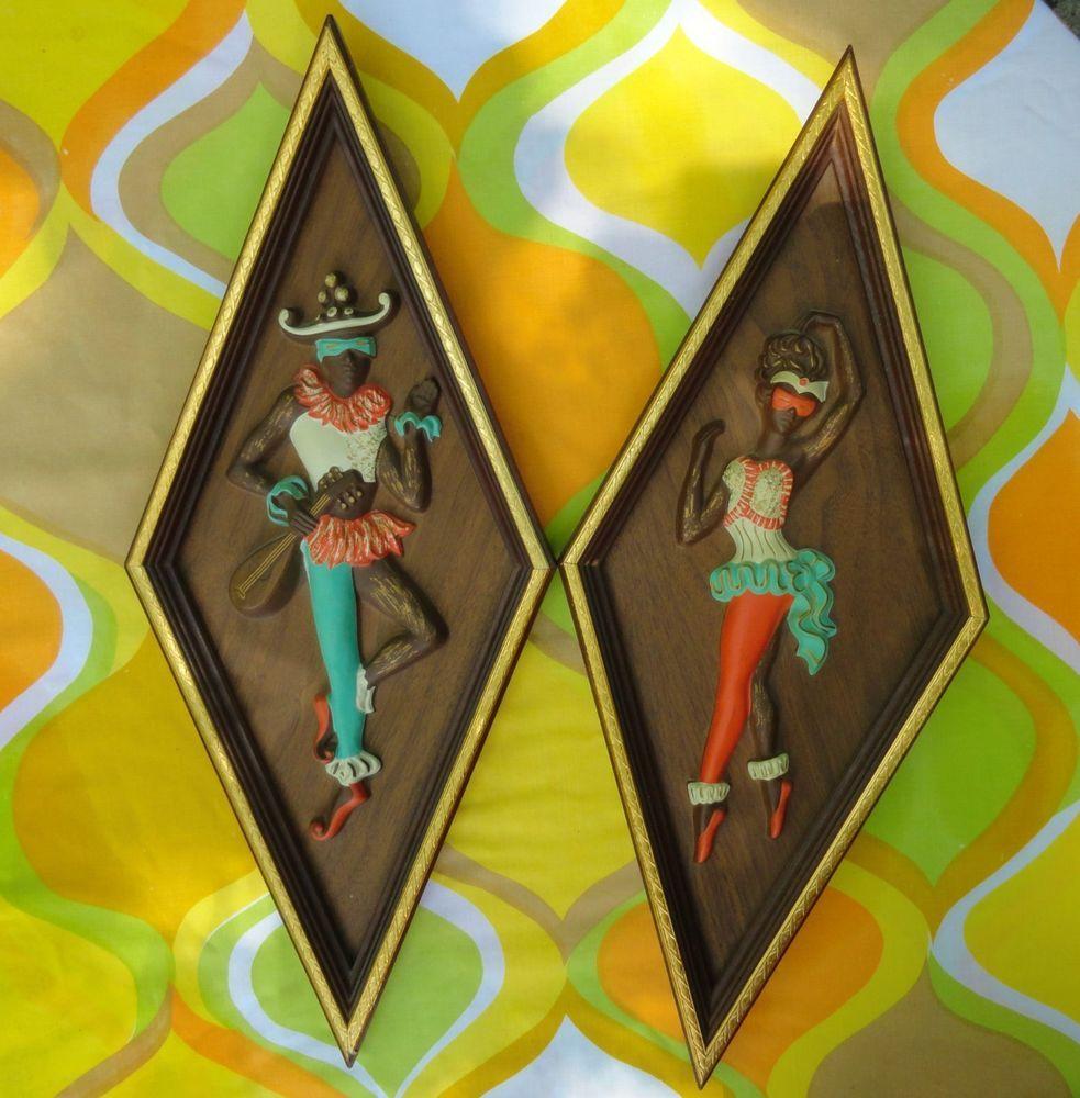 VTG MID Century Modern Turner Wall Harlequin Dancing Jesters Retro ...