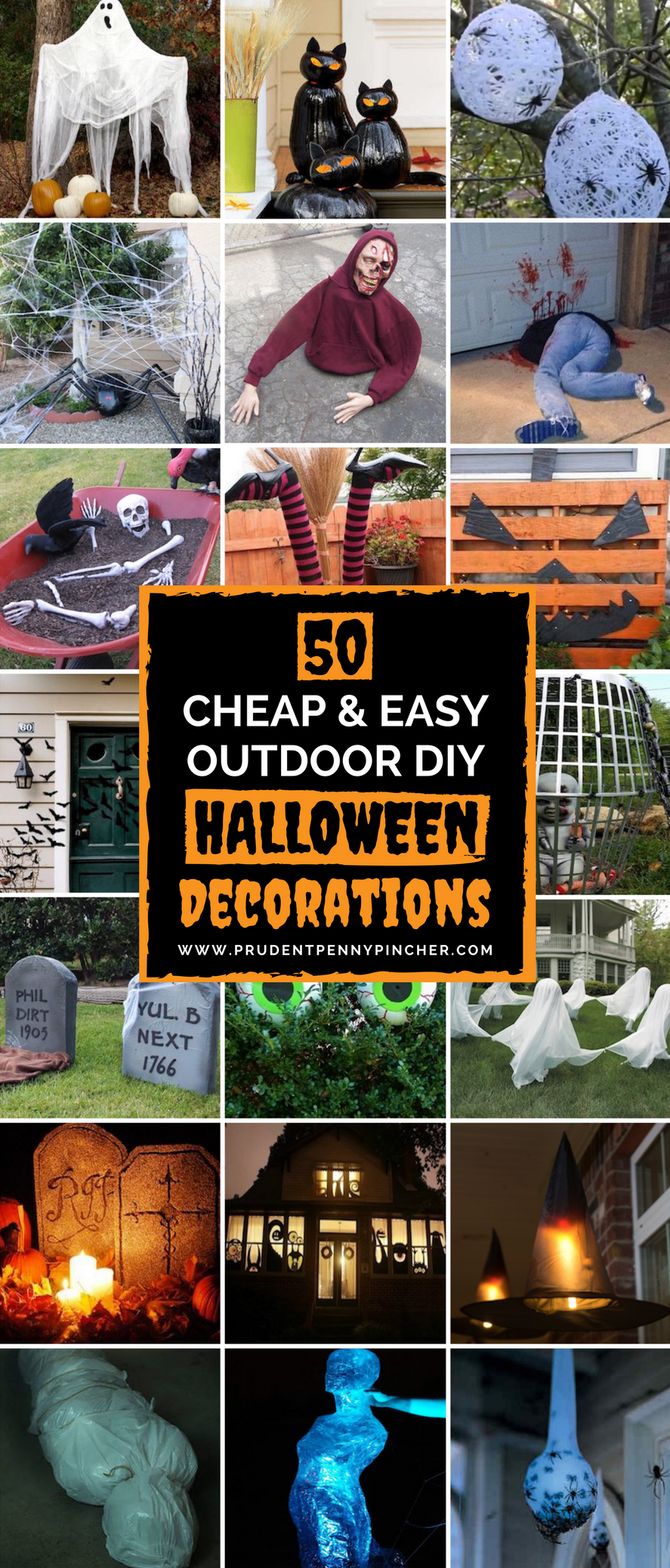 50 cheap and easy outdoor halloween decor diy ideas | halloween