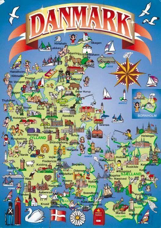 Pin By Mike Wolff Powers On Jeg Elsker Dig Denmark Map Denmark Denmark Travel