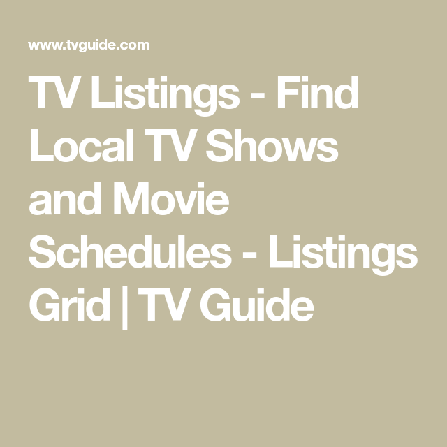 TV Listings - Find Local TV Shows and Movie Schedules