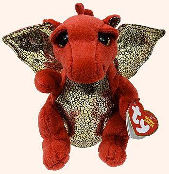 TY Beanies Legend Dragon Red  246b0d47b434