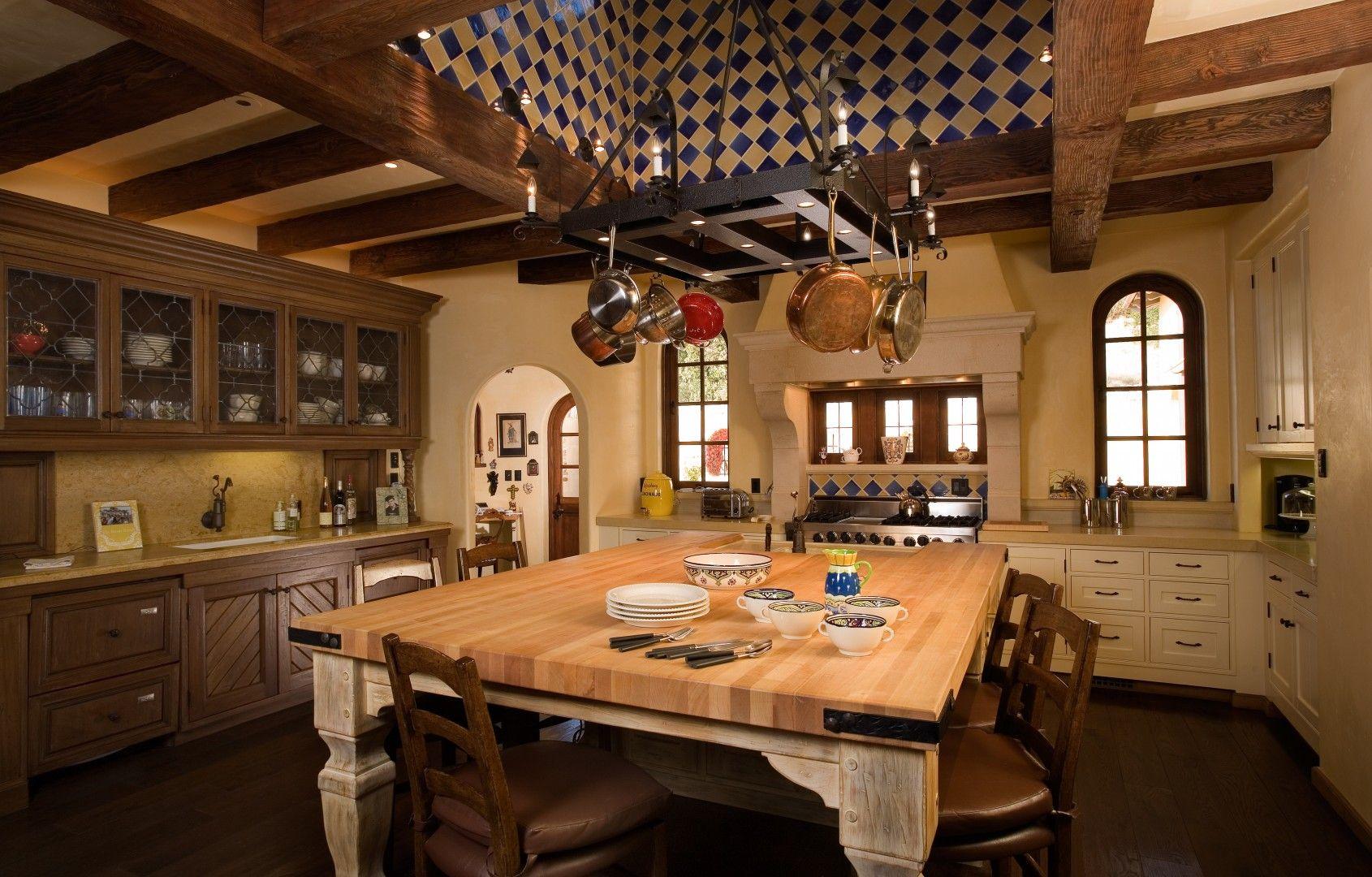 Spanish Colonial Ranch - Kitchen   Hacienda kitchen