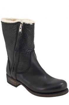 Lille vinkel sko - Blackstone Ew74-00 Sort