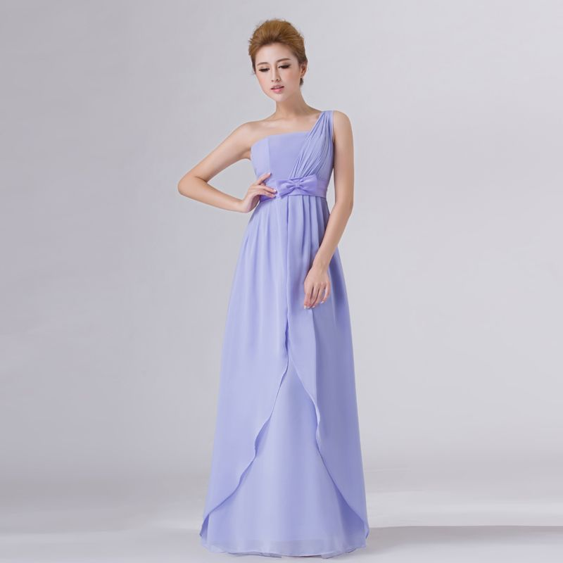 Simple Elegant Formal Dresses For Weddings One-Shoulder Chiffon ...
