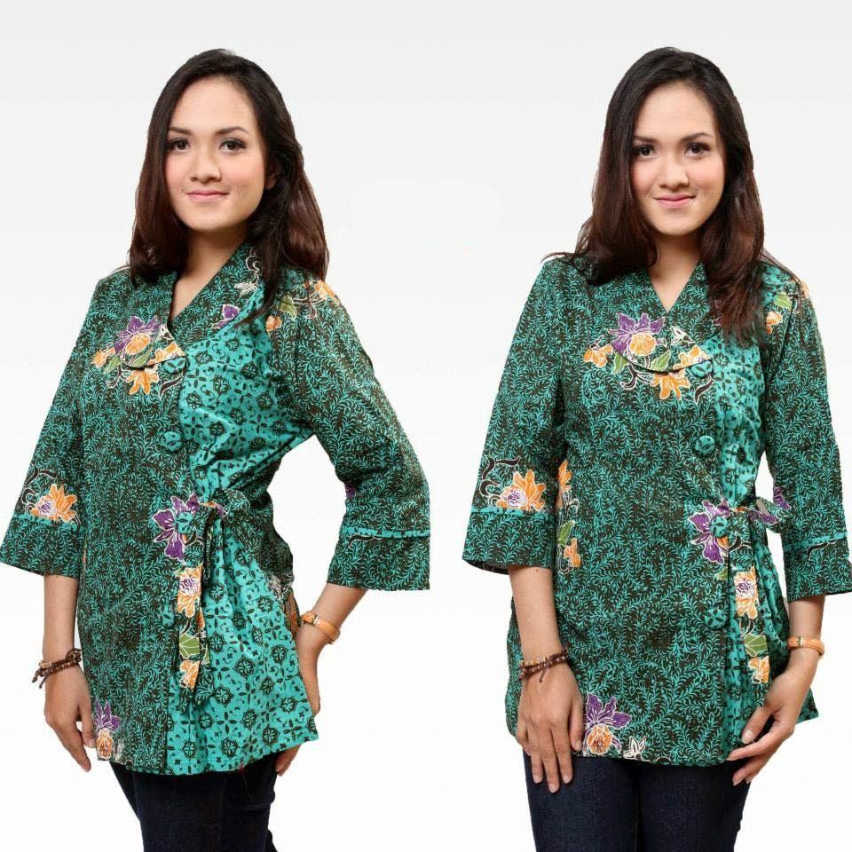 Hasil gambar untuk model baju batik wanita motif miring  Baju