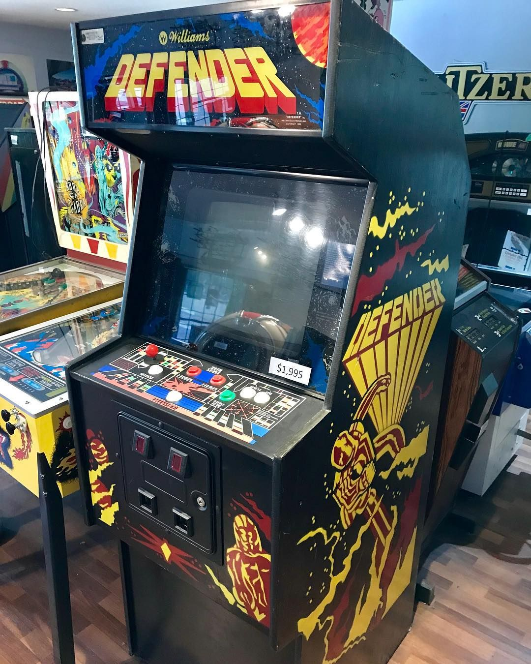Williams Defender From 1981 Designers Eugene Jarvis And Larry Demar Created One Of The Most Successful Video Arcade Arcade Machine Arcade Arcade Video Games