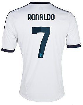 041750d0f  7 RONALDO Real Madrid Home 2012-13 Kid Soccer Jersey   Matching Short Set  - For Youth Age  8-10 Years Old World Soccer Maniac.  34.99
