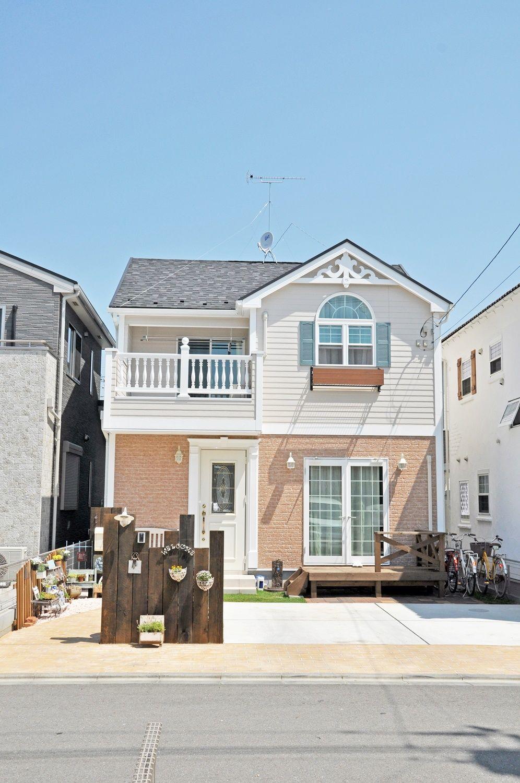 都市型アメリカン住宅をイメージした外観 株式会社コグマホーム