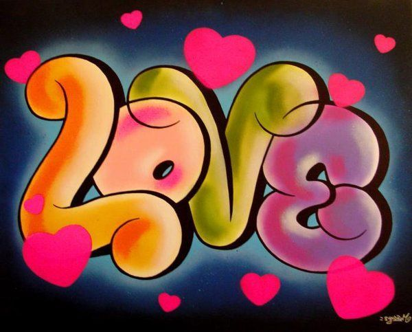 Cool Words In Bubble Letters The word love in bubble | LOVE
