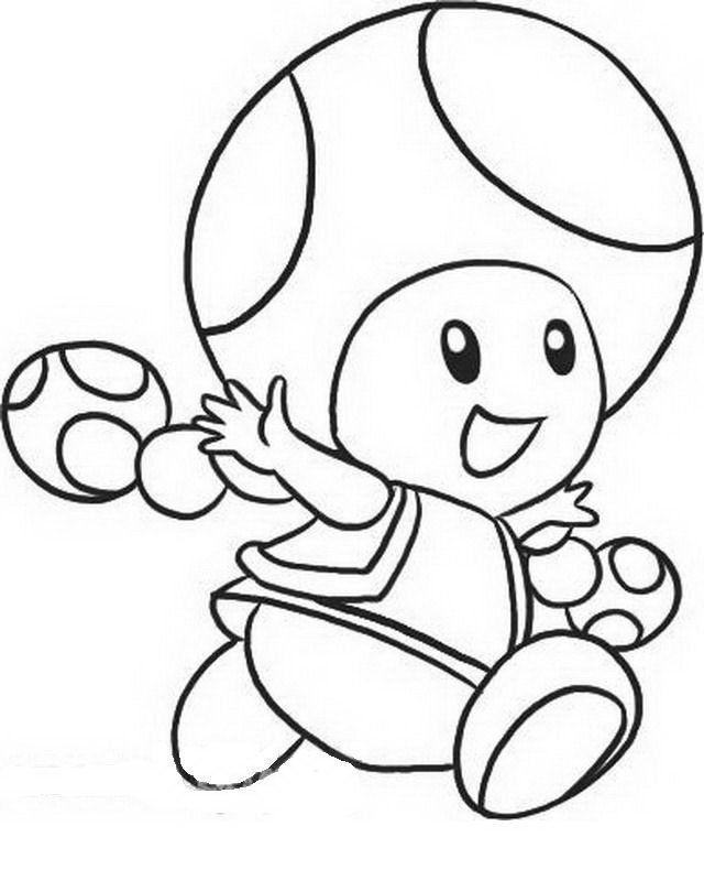 Dibujos de Mario Bros para colorear | Colorear | Pinterest | My boo ...
