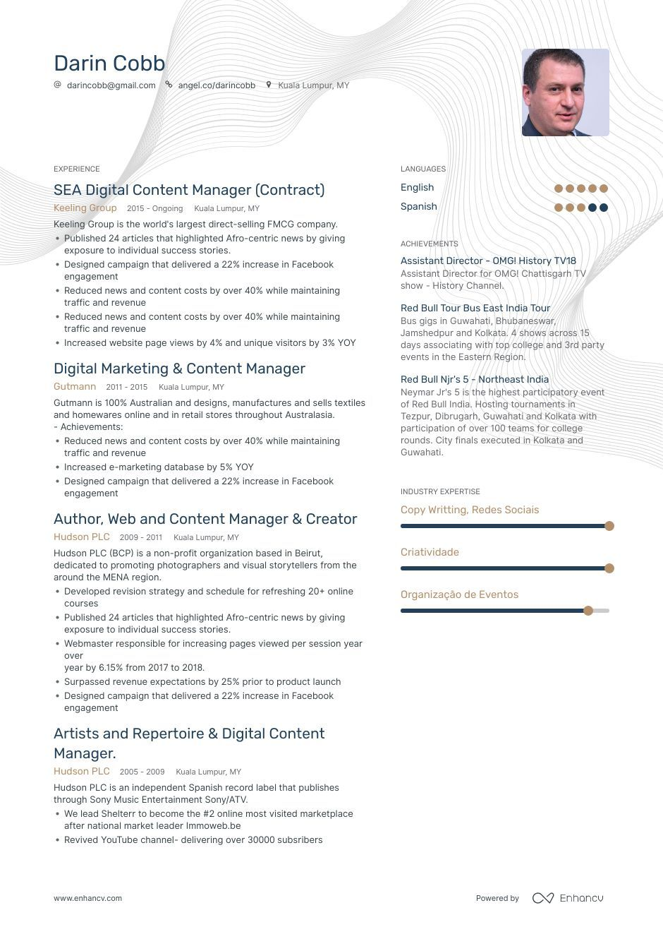 Content Manager Resume Example And Guide For 2019 Resume Examples Manager Resume Design Campaign