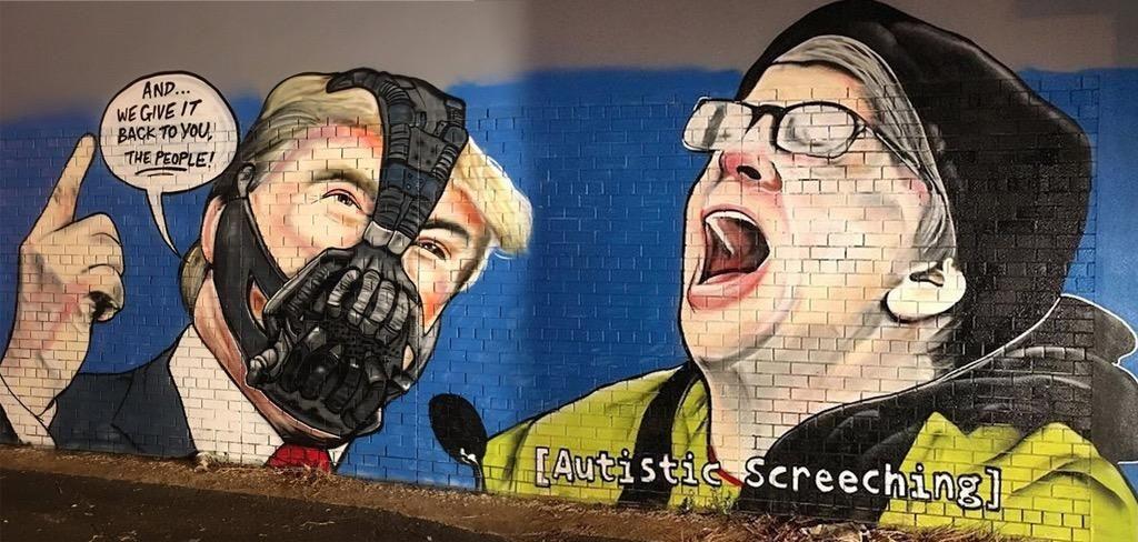 Yuge Donald Trump mural