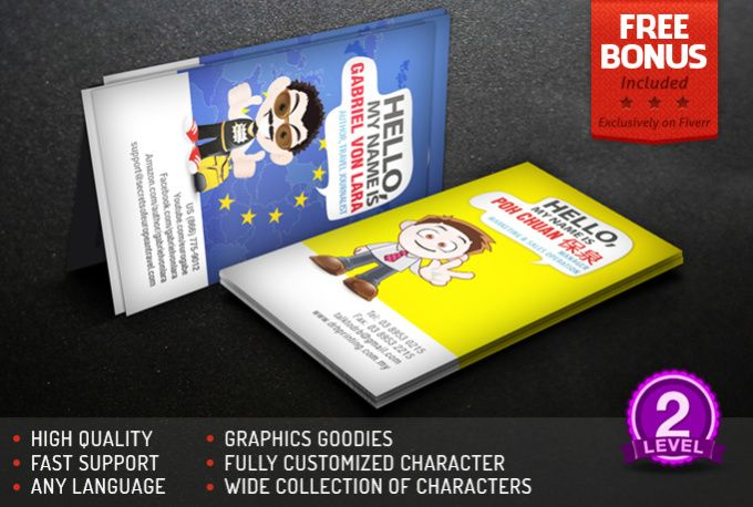 Design a character business card by njuccs business card design before placing order you must select your character and design of your business card by contacting mehello do you have any cool business reheart Gallery