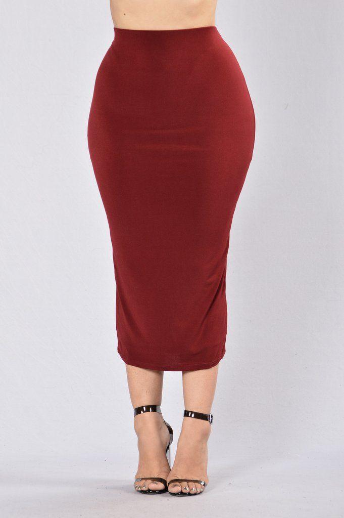 ea781ff613 Rock My Body Skirt - Wine | Fashion Nova | Skirts | Skirts, Types of ...