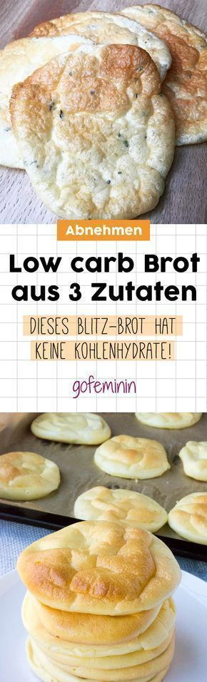 Low Carb Bread made from three ingredients: THIS Cloud Bread has NO carbohydrates!  - essen Fitness...