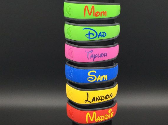 Custom Disney Magic Band Decals Glossy Or Glitter Decal Magic - Magic band vinyl decals